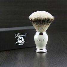 Badger Hair Shaving brush In Ivory & Metal Color Base Silver Tip badger gift