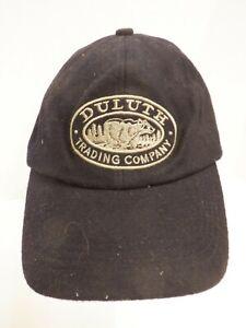 Duluth Trading Company 65% Wool Black Hat Strapback Cap Size Medium/Large