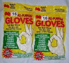32 Disposable Vinyl Gloves 3.5mil Food Housework Painting Food All-purpose US