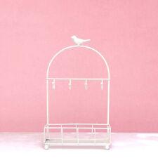 Ornate Key Hook Shabby Chic Metal Organizer Hanger Basket Storage Holder White