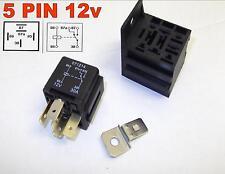 5 PIN 12v 30Amp AUTOMOBILISTICO COMMUTATORE relè AUTO FURGONE CON BASE ( 7-100 )