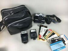 Canon AE-1 Camera Kalimar C-1 Winder Vivitar Auto Thyristor 550FD 177A Speedlite