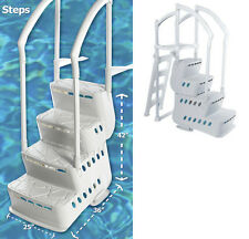 Innovaplas Biltmor Above Ground In-Pool Ladder Step Entry System w/ Deck Mounts