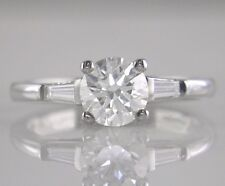 Diamond Engagement Ring 1.18ct H VS1 Exc Brilliant Cut Certified 18ct White Gold