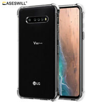 For LG V60 ThinQ 5G Ultra Slim Clear Shockproof Flexible Rubber TPU Case Cover
