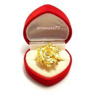 Flower Ring 22K 23K 24K Thai Baht Yellow Gold Plated Jewelry Women Girls