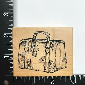 PSX Designs F3151 Suitcase Luggage Wood Mounted Rubber Stamp Travel Vacation