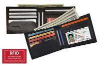 RFID Blocking Men's Leather Bifold Wallet ID Credit Card Front Pocket Holder