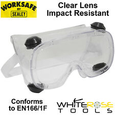 Worksafe by Sealey Standard Safety Goggles Eye Protection PPE Clear Lens