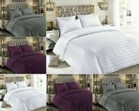 STRIPE DUVET COVER SET 600 THREAD COUNT 100% COTTON HOTEL QUALITY BEDDING SETS