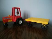 Original 1980 Fisher Price Incomplete Farm Tractor With Trailor and 1x Character