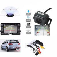 170° Waterproof Car Rearview Mirror Reverse Backup Camera Night Vision Sensor