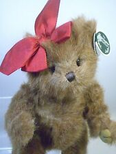 Bearington Collection Limited Series Bear Taryn Teddy Plush with Red Bow