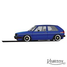 VW Mk2 Golf decals Early Or Late Font(Please state 3 or 5 door and Colour/s)