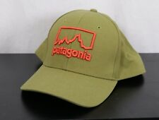 PATAGONIA Roger That Green /Orange Fitz Roy Logo Ballcap Cap Hat -One Size