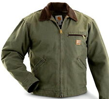 Carhartt Men's J97 Detroit Sandstone Jacket - Blanket Lined - Army Green - 4X