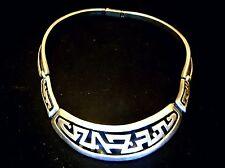 Salvador Teran ~ Aztec Glyph choker necklace; ca-1950s-1960s ~Rare