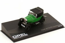 1:43 Opel 4 12 PS Laubfrosch grün green schwarz - Ixo Altaya Opel Collection 22
