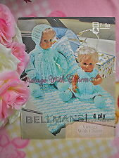 Vintage Knitting Pattern, Pram Set, Dress, Pram Cover For 12 Or 16in Dolls
