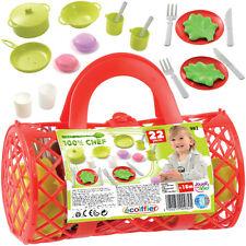 Ecoiffier Gitternetzkorb m. Puppengeschirr Geschirr Kinder Spielzeug Kinderküche