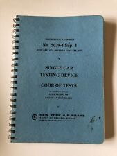 New York Air Brake Single Car Testing Device Code Of Tests Instruction Pamphlet
