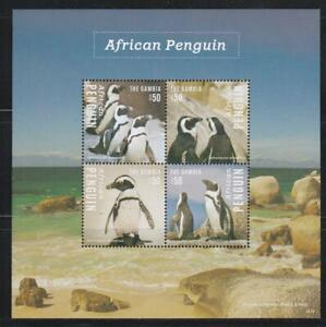 GAMBIA 2014 BIRD STAMPS AFRICAN PENGUIN  SS MNH - BIRDL601