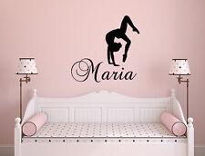 Girl Name Decal Gymnastics Wall Decal Nursery Vinyl Stickers Dance Studio NA200