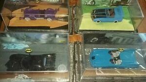 4 x Eaglemoss Batman Model  Cars - Batmobile Catmobile - still sealed