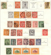 $China Stamp collection, mint/used on album pages, mixed condition Dragons