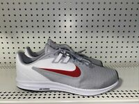 Nike Downshifter 9 Mens Athletic Running Shoes Size 11 4E WIDE Gray Red White