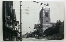 POSTCARD Colchester North Hill, Hotel, St Peter's Church; Postmark 1928