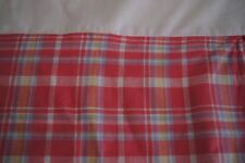 Tommy Hilfiger Pink, Blue, and White Plaid Tailored Queen Bed Skirt