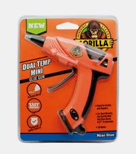 Gorilla Mini GLUE GUN Dual Temp 20 Watt Easy Squeeze Precision Nozzle w/ Stand