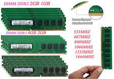 Lot Samsung 2GB 4GB DDR2 667 800 DDR3 1066 1333 1600Mhz Desktop Memory RAM DIMM