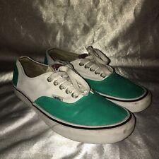 Vans Authentic White/ Mint Size 7.5 Men's 9 Women's