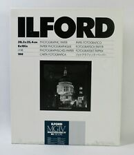 """Ilford Multigrade Iv Rc Deluxe Resin Coated """"Pearl� B&W 8x10in 100 Shts. Sealed"""