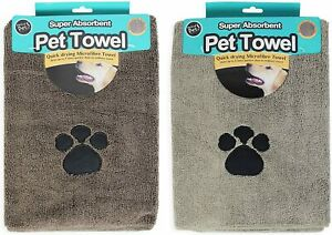 Pet Dog Towel Cleaning Super Absorbent Fast Drying Microfibre 100 x 60cm