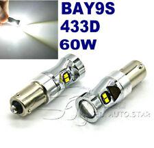 2x H21W BAY9s 433D Car Parking Light ZES LED White 60W Car Backup Reverse Lights