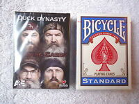 "Set Of 2 "" NIP "" Decks Of Playing Cards,1,Duck Dynasty,1,Bicycle Standard """