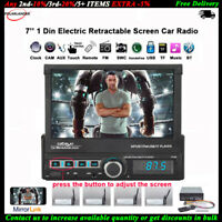 7''1 Din Car Radio Automatic Touch Screen Mp5 Player Bluetooth FM TF Mirror Link