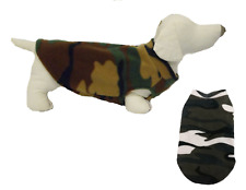 Dog Jumper in Camouflage FLEECE Sweater Pullover Coat Vest XXS- XL Jungle
