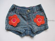 Gymboree Surf Adventure 3D Flower Blue Denim Jean Shorts Girls 5T NEW NWT