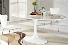 """HIGH-END Tulip Shaped Oval Dining Table 78"""" White, Saarinen style,Mid C Modern"""