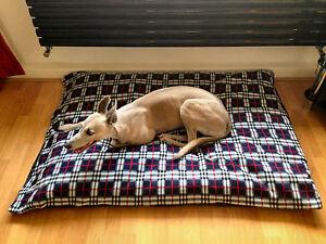 KosiPet® Large Deluxe Waterproof Rhomboid Memory Foam Pad  Dog Bed NAVY PLAID