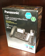 NEW Panasonic 2-Line DECT 6.0 Corded / Cordless Link2Cell Telephone  KX-TG9581B