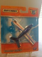Matchbox Cirrus Vision Blue & White, Sky Busters Series, Private Jet 2016 NIP