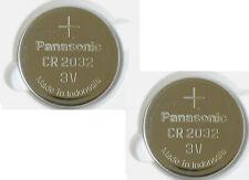 2 x SUPER FRESH Panasonic ECR2032 CR2032 Lithium Battery 3V Coin Cell Exp. 2027