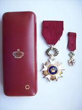 décoration médaille belge chevalier ordre couronne  parfait état avec boite