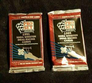Pro Set Racing 1991 NHRA Winston Drag Racing Photo & Stat Cards 2 Packs 10 each