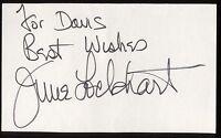June Lockhart Signed Index Card Signature Vintage Autographed AUTO